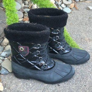 UGG Black Quilted Newberry Waterproof Snow Boots